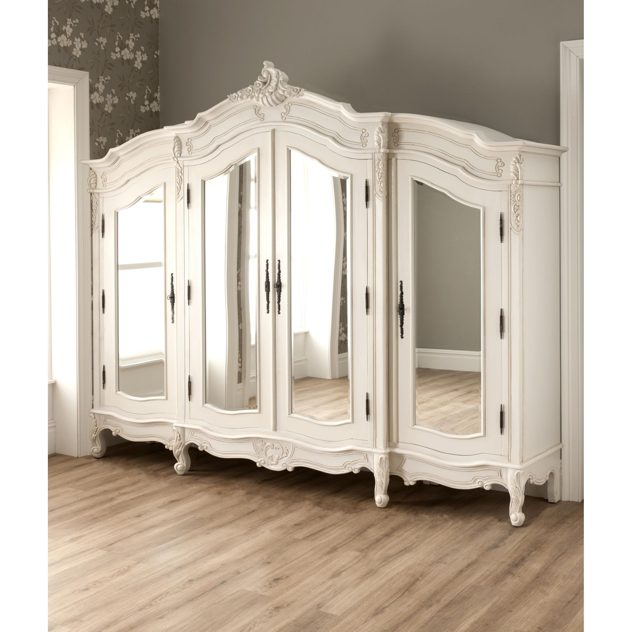 Large bathroom mirrors for sale - Wardrobes Amp Armoires Antique White Large Antique French Style Wardrobe