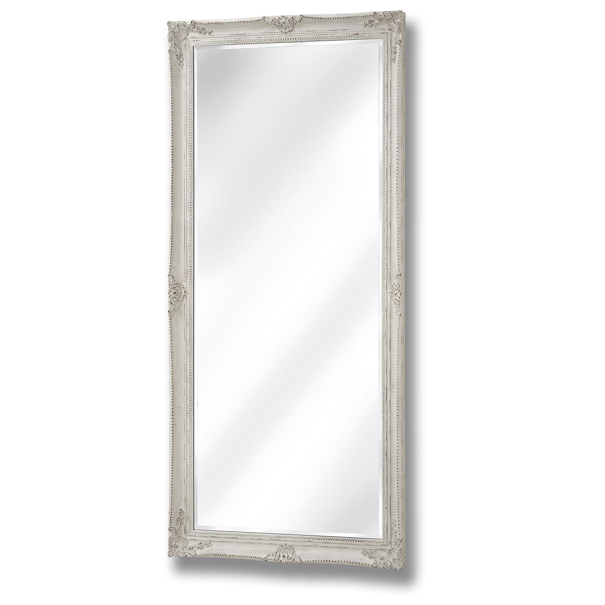 large antique french style white wall mirror homesdirect365. Black Bedroom Furniture Sets. Home Design Ideas