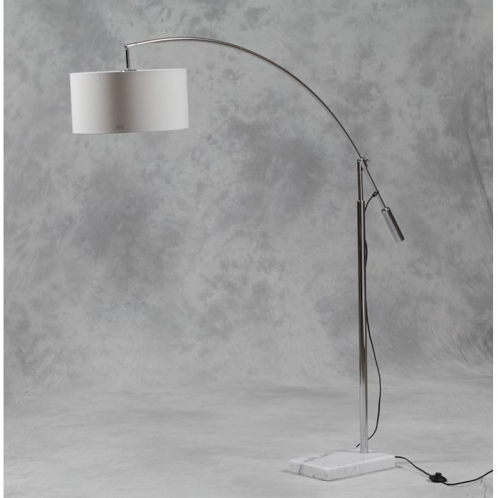 Large Arc Marble Base Floor Lamp, Arc Floor Lamp With Marble Base