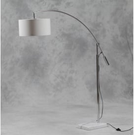 Large Arc Marble Base Floor Lamp