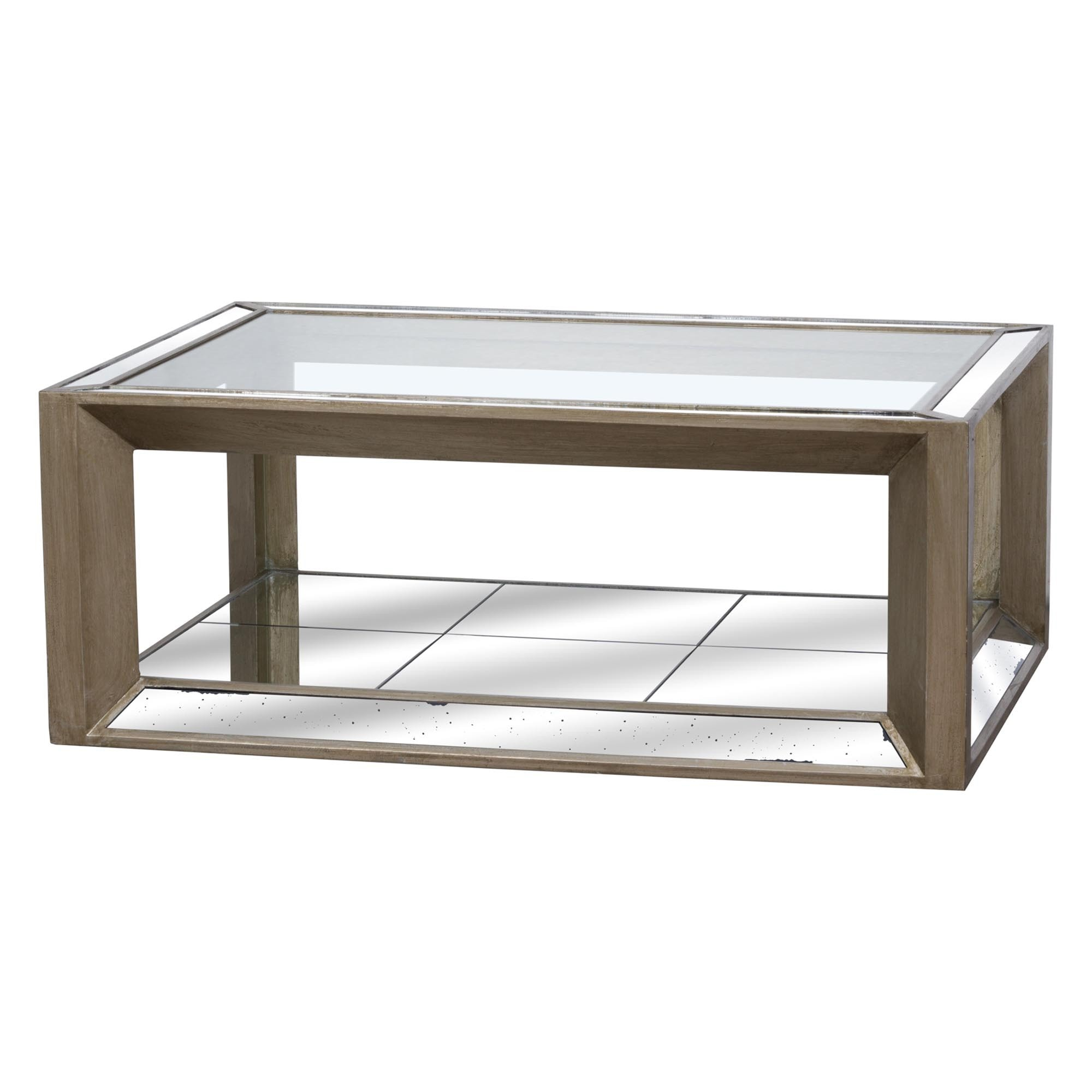 Large Augustus Mirrored Coffee Table Tables Coffee Tables