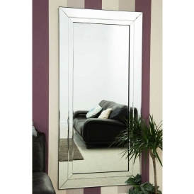 Large Bevelled Edged Frameless Venetian Mirror
