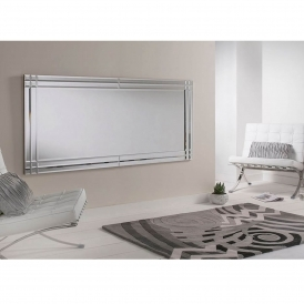 Large Bevelled Rectangular Wall Mirror