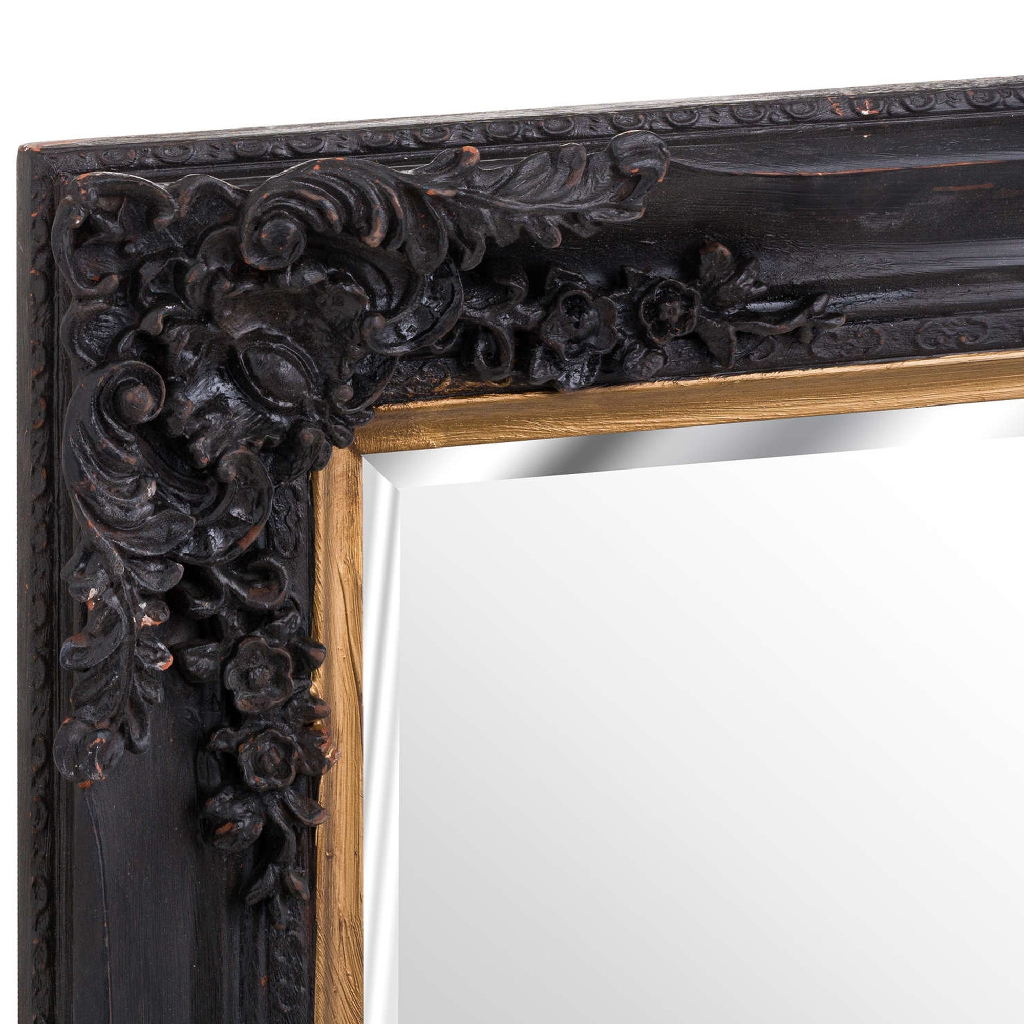 Black Gold Baroque Wall Mirror French Mirrors Decorative Mirrors
