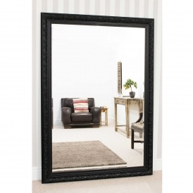 Large Black Antique French Style Mirror
