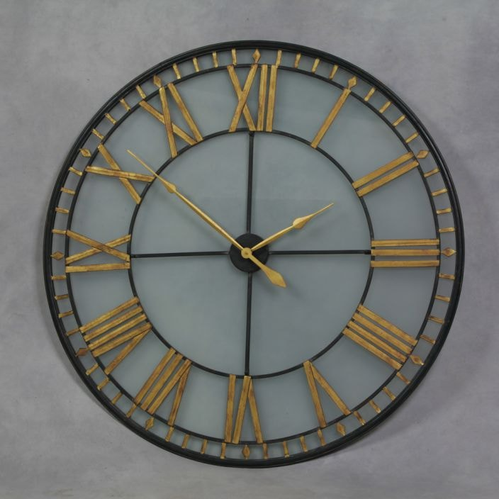 Large Black Antique French Style Wall Clock Home Accessories