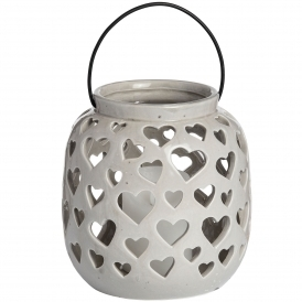 Large Ceramic Heart Lantern