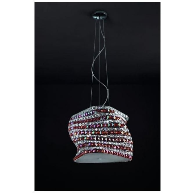 Large Contemporary Crystal Pendant Light