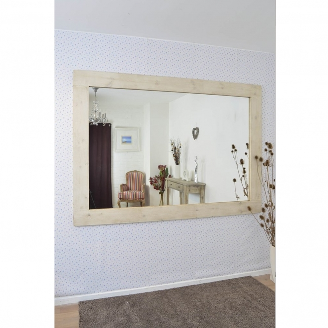Large Country House White Mirror