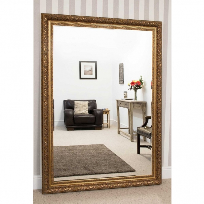 Large Gold Antique French Style Mirror