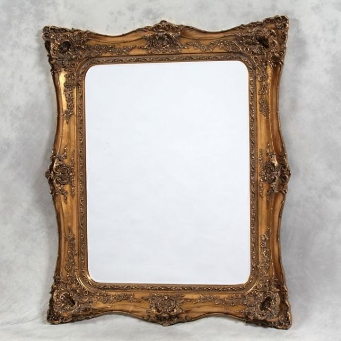 Large Gold Classic Antique French Style Mirror