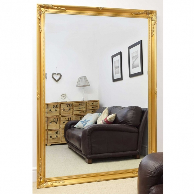 Large Gold Decorative Antique French Style Mirror