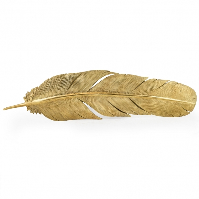 Large Gold Feather