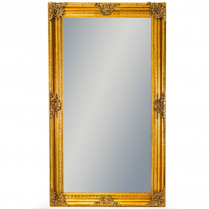 Large Gold Rectangular Classic Antique French Style Mirror