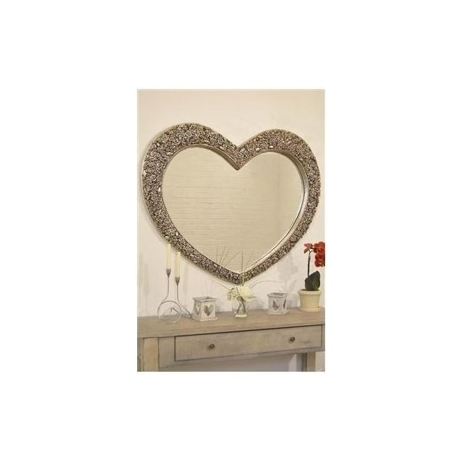 Large Heart Antique French Style Mirrror