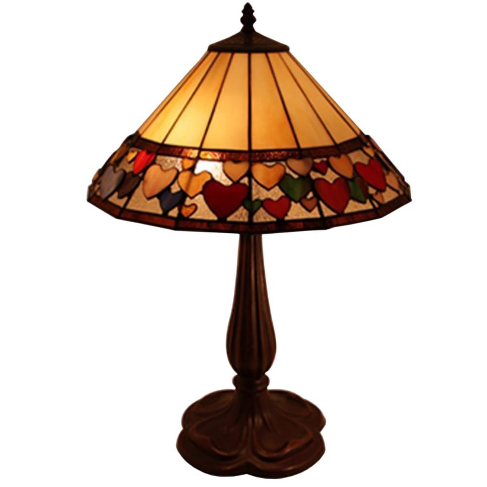 Table Hearts Lamp Hearts Tiffany Large Large 1JTlKuc3F