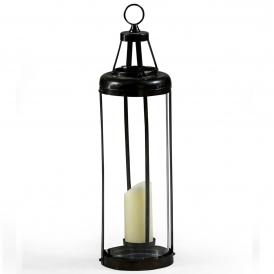 Large Industrial Antiqued Iron Lantern