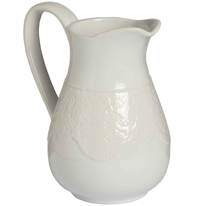 Large Lace Detail Display Jug