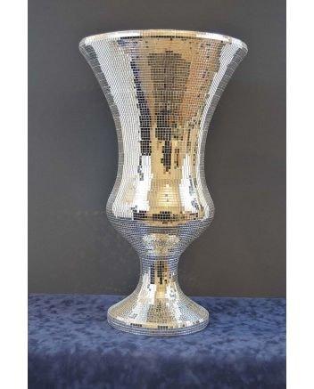 Large Mosaic Mirrored Vase