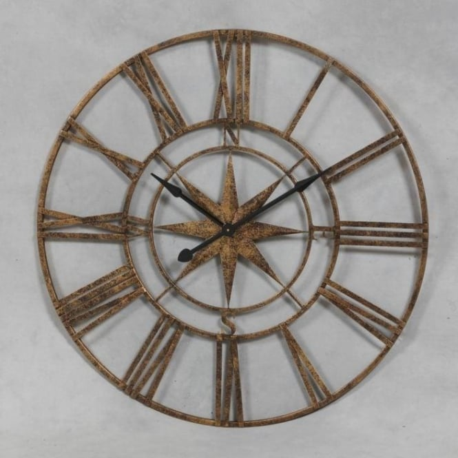 Large Nautical Antique French Style Wall Clock