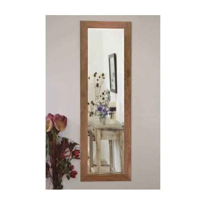 Large Oak Wall Mirror