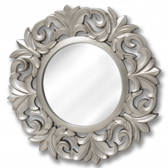 Large Ornate Circular Wall Mirror