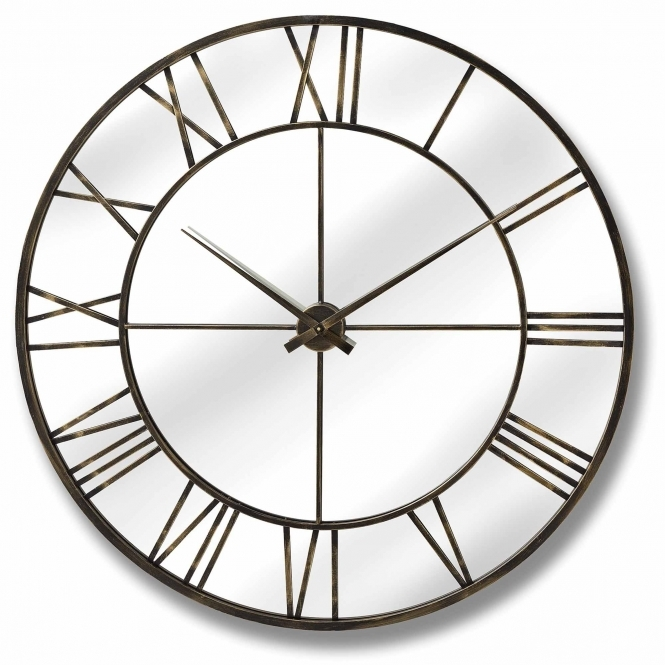 Large Outdoor Mirrored Round Clock Outdoor Homesdirect365