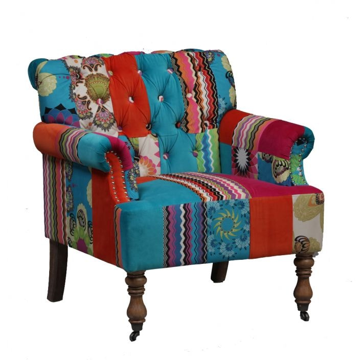 Large Patchwork Armchair | Lounge Furniture Collection