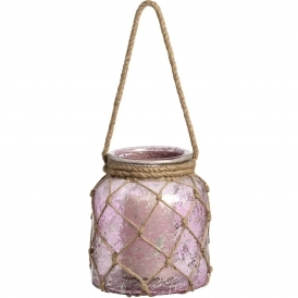 Large Rose Glass Lantern