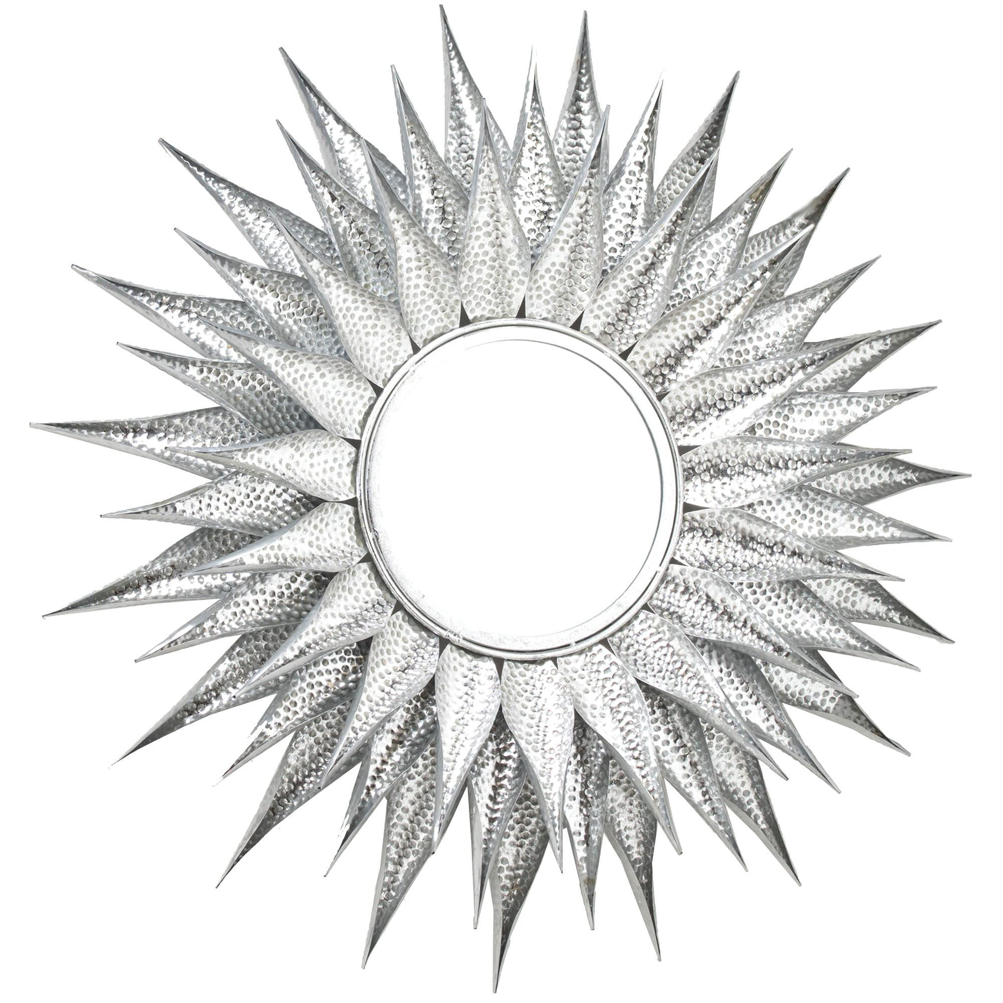 Silver Sunburst Mirror Wall Mirrors Decorative Mirrors