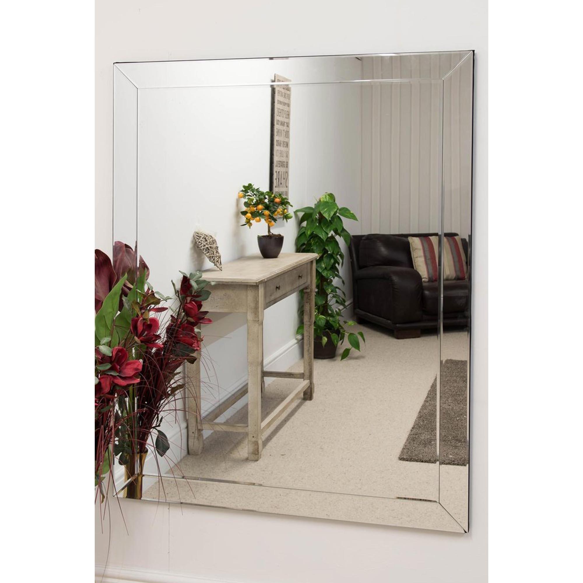 Large Venetian Frameless Wall Mirror Homesdirect365
