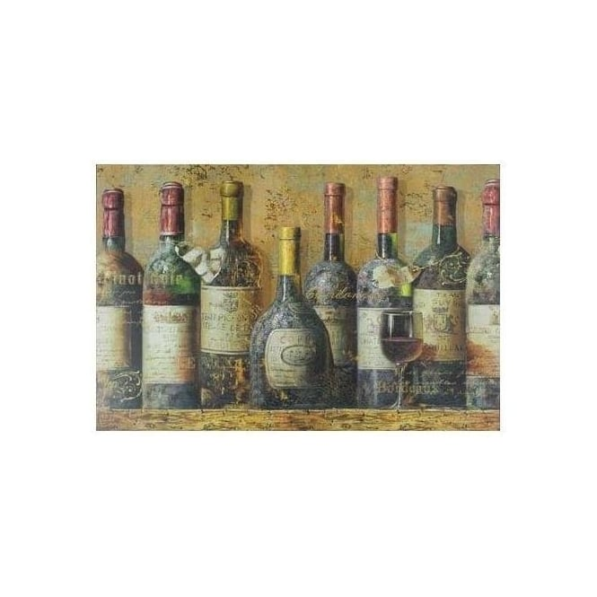 Large Wine Bottle Canvas