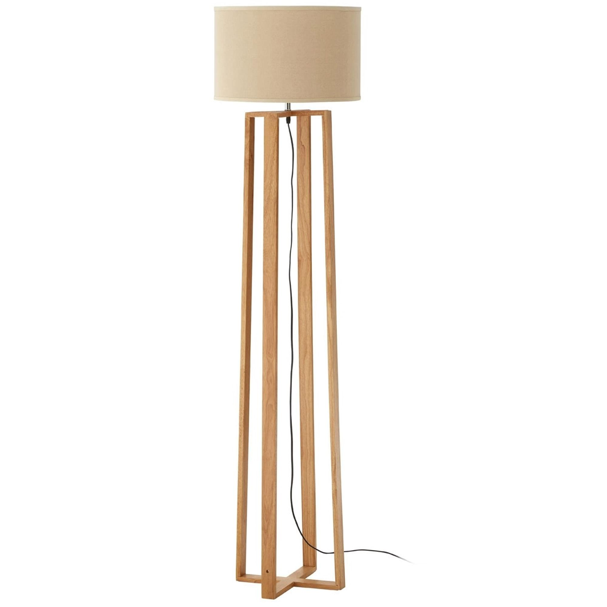 Lea Wooden Floor Lamp