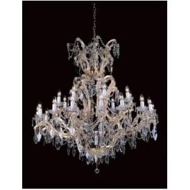 Lead Crystal Antique French Style Pendant Light 2