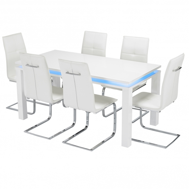 LED Milano Dining Table Set