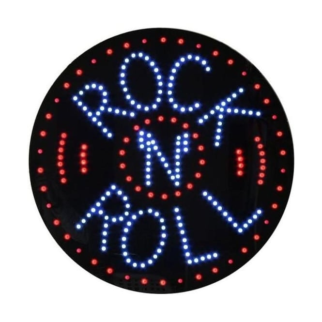 LED Rock 'N' Roll Sign
