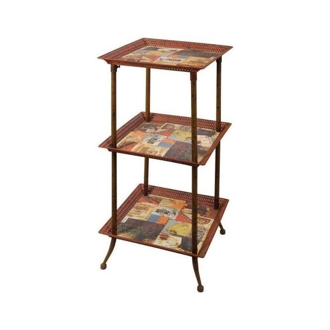 Lets Go Retro 3 Tier Tea Stand