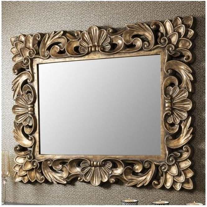 Levinia Antique French Style Wall Mirror