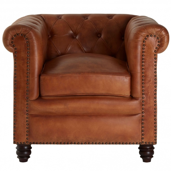 Light Brown Buffalo Armchair