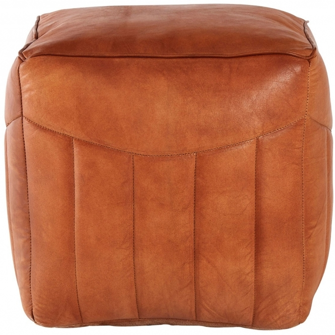 Light Brown Buffalo Pouffe
