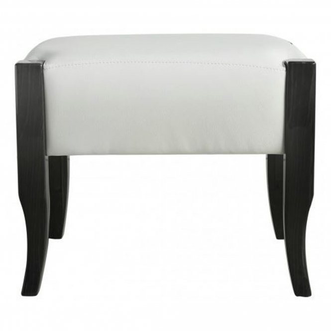 Light Grey Leather Stool