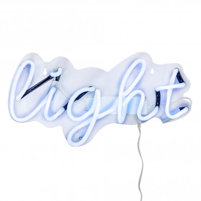light neon wall light modern wall lights homesdirect365. Black Bedroom Furniture Sets. Home Design Ideas