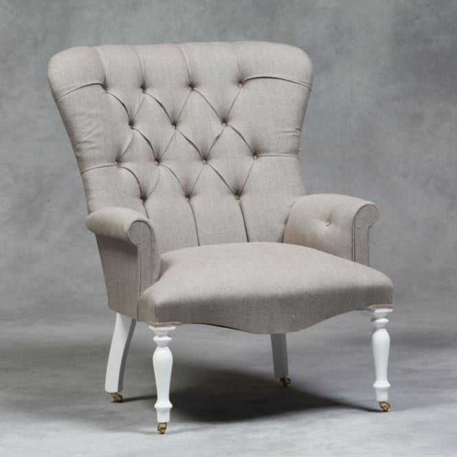 Linen Antique French Style Chair