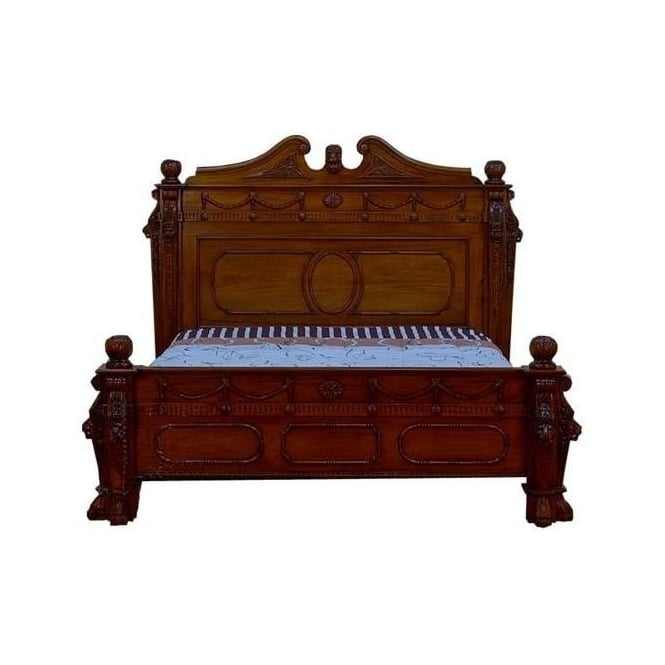 Lion Gothic Antique French Style Bed