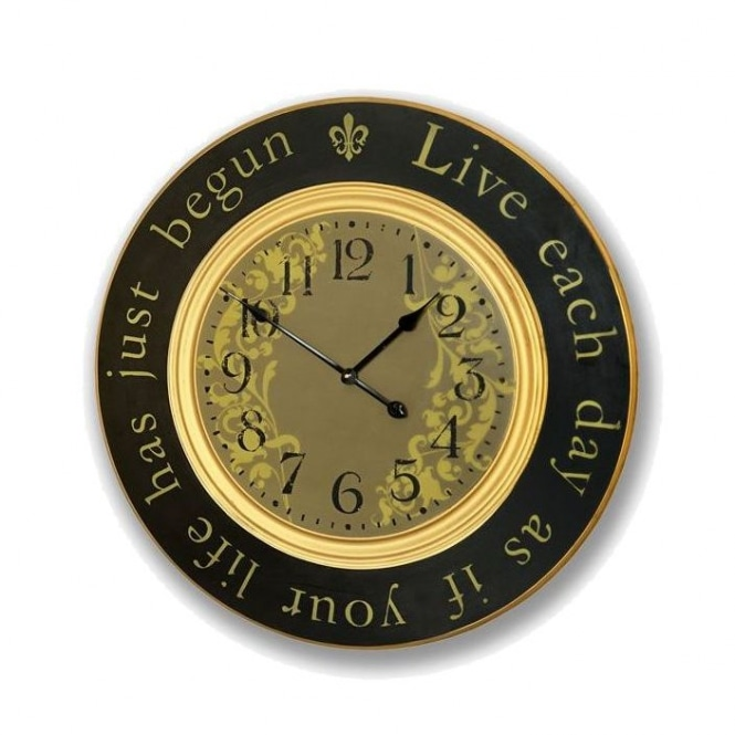 Live Each Day Clock