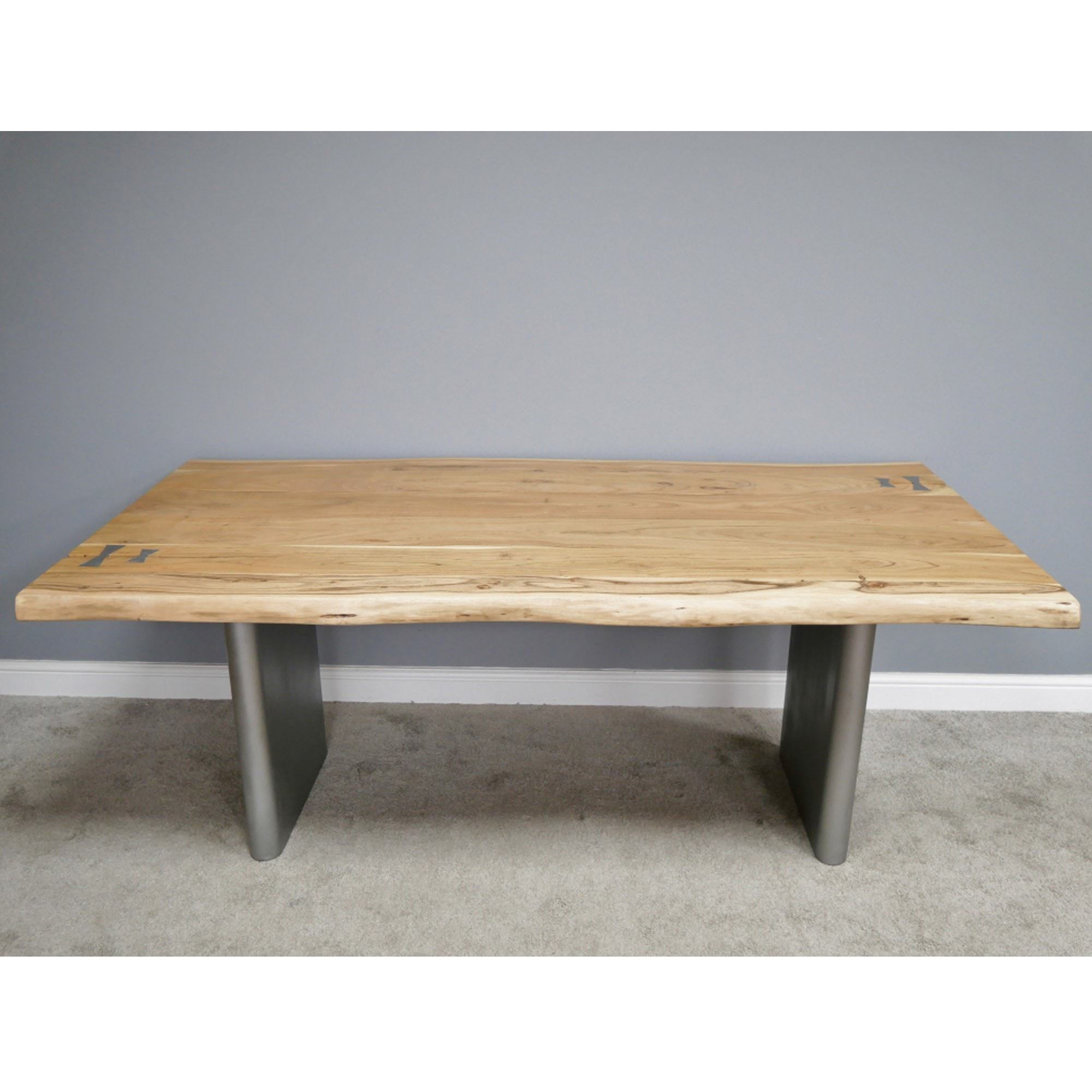 Picture of: Living Edge Acacia Dining Table Wooden Dining Table Dining Table