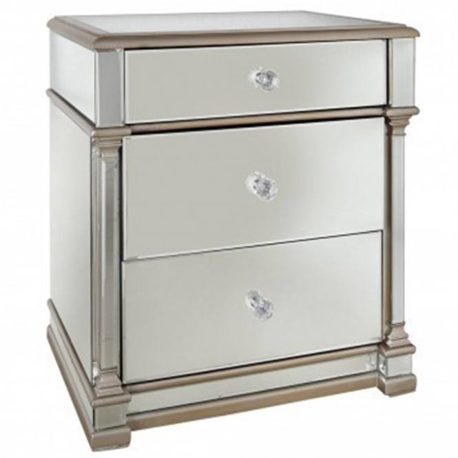 Livorno Mirrored Bedside Table