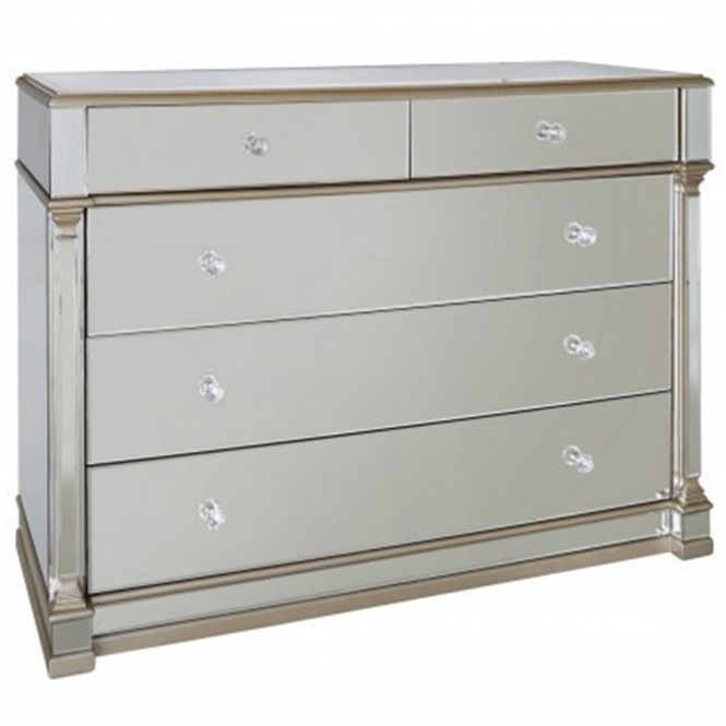 Livorno Mirrored Chest of Drawers