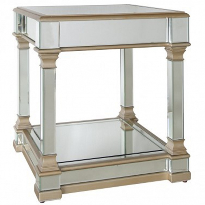 Livorno Mirrored End Table