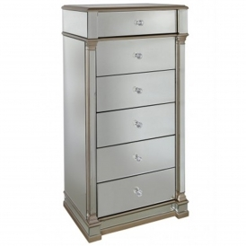Livorno Mirrored Tallboy Chest